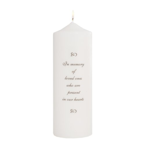 Celebration Candles Wedding Unity 9-Inch Memorial Candle with Generic Verse, White
