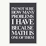 AZSTEEL Math Problems Quotes Poster Art - Funny Posters for