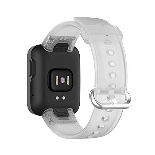 Leiai Silicona Correa para Xiaomi Mi Watch Lite/Redmi Watch,Correas de Reloj,Bandas Correa Repuesto,Reloj Recambio Brazalete Watch Correa Repuesto para Xiaomi Mi Watch Lite/Redmi Watch (Blanco)