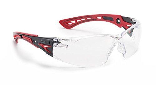 """Bollé Schutzbrille """"Rush+"""", 1 Stück, Einheitsgröße, rot/schwarz, RUSHPPSI"""