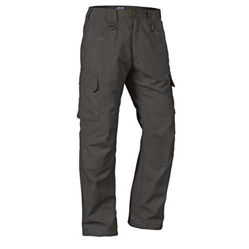 LA Police Gear Men's Water Resistant Operator Tactical Pant with Elastic Waistband - Sierra - 34 x 36