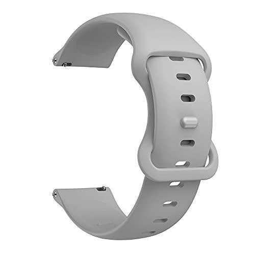 Pulseira 22mm Sport Borboleta compatível com Galaxy Watch 3 45mm - Galaxy Watch 46mm - Gear S3 Frontier - Amazfit GTR 47mm - GTR 2 - Amazfit Stratos 3 - Marca LTIMPORTS (Cinza)