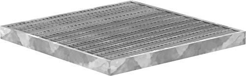 Fenau | Garagen-Gitterrost/Baunorm-Rost Maße: 390 x 390 x 30 mm - MW: 30 mm / 10 mm (Vollbad-Feuerverzinkt) (Passend für Zarge: Fenau 400 x 400 x 33 mm) Industrie-Norm-Rost für Lichtschacht