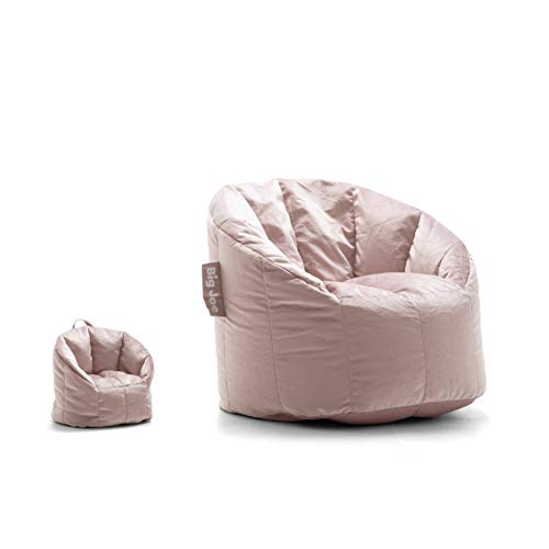 Big Joe Lux Doll and Me Chair, Desert Rose Holland Velvet Bean Bag