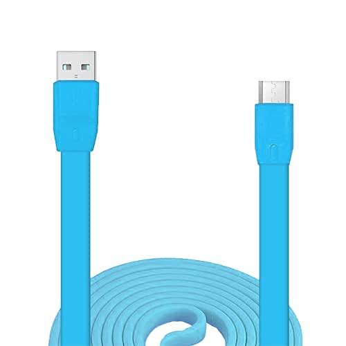 Adhiper UE Boom - Cable de carga de repuesto compatible con UE Boom / Boom2 / Megaboom / Miniboom Roll altavoces inalámbricos (azul)