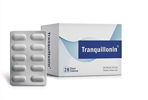 Tranquillonin Natural Sleep Aid Alternative for Adults in The UK - with Five All Natural, Powerful Ingredients - 112 Vegetarian Capsules Tablets (1 Box)