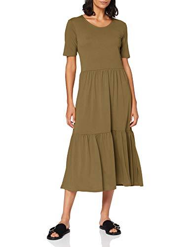JACQUELINE de YONG Damen Jdydalila Frosty S/S Dress Jrs Noos Kleid, Martini Olive, S EU