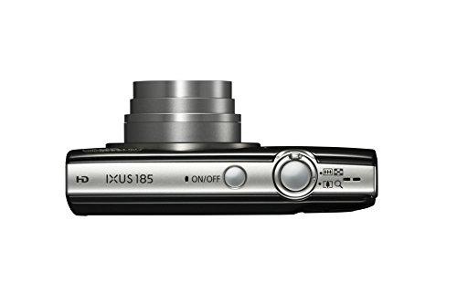 Canon IXUS 185 Digitalkamera (20 MP, DIGIC 4+, 8x optischer Zoom, 6,8cm (2,7 Zoll) LCD, Display, Smart Auto, HD Movies, USB, 720p) Kamera digital, schwarz
