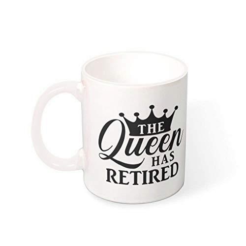 DOGCATPIG Taza de viaje The Queen has retirado al aire libre restaurante taza de café para niño blanco 330ml