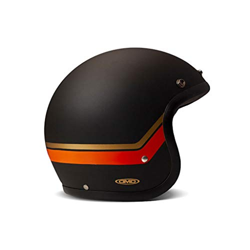 DMD Vintage Sunset schwarz orange matt Open Face Helm Jethelm Motorradhelm, XS