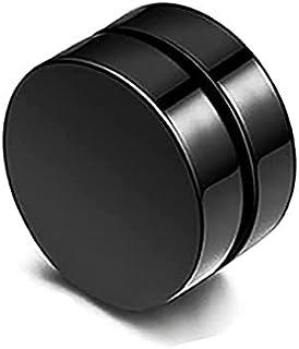 Stainless Steel Pierced Earrings, 10MM Round Magnet False Stud Earrings, Fashion Jewelry for Men and Women