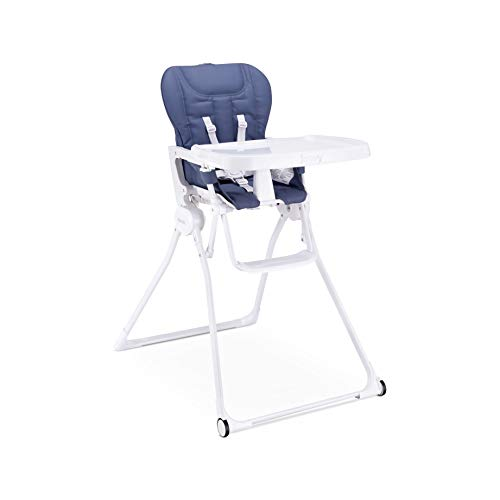 Joovy Nook NB High Chair, Reclinable Seat, Compact Fold, Swing Open Tray, Slate (2209)