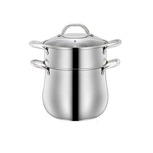 304 en Acier Inoxydable Pot Pot Pot de Cuisson au gaz Universel Pot de Cuisson Maison Grande capacité Pot épais QIQIDEDIAN (Size : 28cm)
