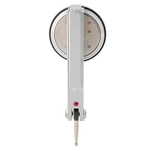 Indicador de esfera de rieles de cola de milano magnéticos, indicador de prueba de esfera 0-0,8 mm Rango de indicador de esfera de 0,01 mm hecho de combinación