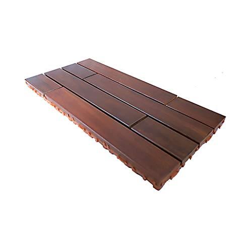 60 30cm Anticorrosive wood floor Outdoor balcony teak diy mosaic floor Used for outdoor decoration terrace renovation and decoration, etc.