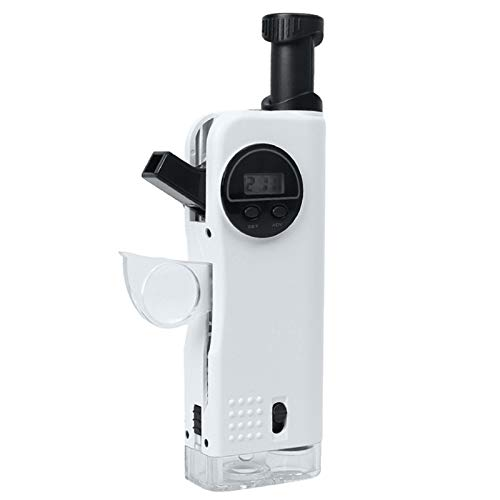 N \ A Portable Child Microscope, Multifunction 30x Microscope, 8X Telescope, 9X Fold-Out Magnifier with LED Lights, Built-in Compass Clock Function