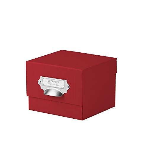 Rössler 1325452360 - S.O.H.O. Foto-Aufbewahrung- Sammelkiste, mit beschriftbarem Einsteckschild, rot