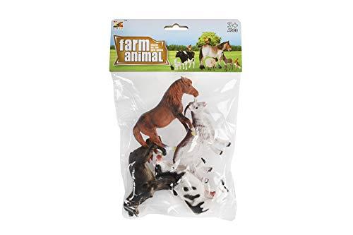 Kids Globe Bauernhoftiere (Set bestehend aus: Pferd, Ziege, Kuh, Hund; 10 cm) - 570261