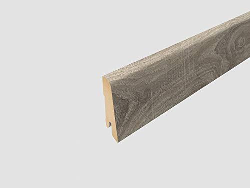 EGGER Home Sockelleiste hell grau L386 Fußleiste | Bodenleiste 2,4m passt zu EHD002 Eiche sägerau grau
