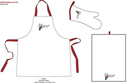 Bertels textielhandel GmbH Rode Rozen Schort Set Fanartikel licentie