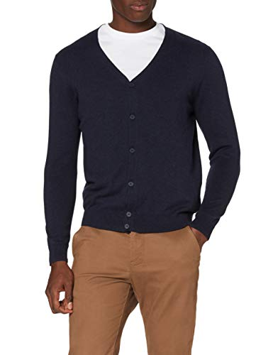 Marchio Amazon - MERAKI Cardigan Uomo, Blu (Navy), XXL, Label: XXL
