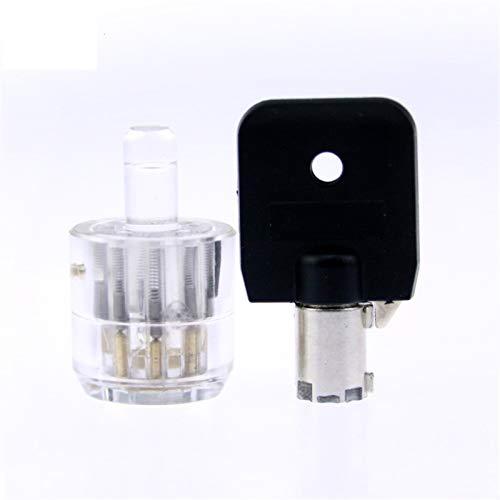 Juego De GanzúAs Cerradura de ciruelo Cilindro Transparente Lock Tubular Visible Pick Cutaway Practice Ver Candlock Entrenamiento Habilidad para Cerrajer Ganzuas