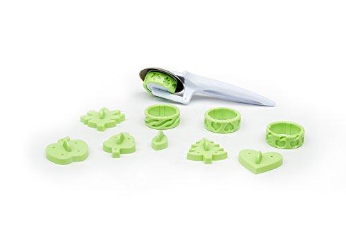 Fox Run, plastique, Kit de décoration pour tarte 11 pièces, 2.5x7.25