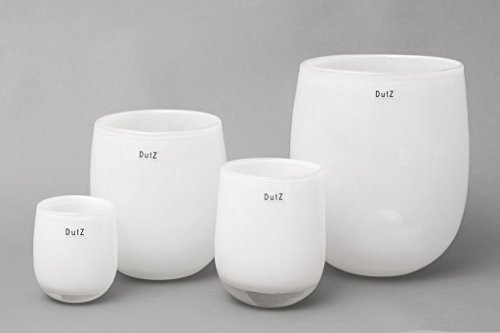 Dutz Vase Barrel, White (H13,5 D10,5)
