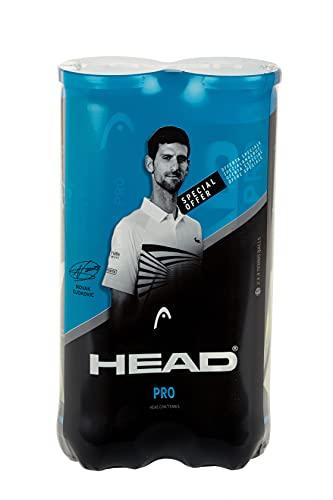 Head Pro Pelota de Tenis (8 Bolas), Unisex Adulto, Amarillo,...