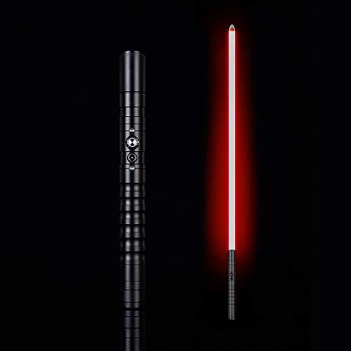 Kuan Lichtschwert,Kostümspiel hochwertige LED wiederaufladbare Lichtschwert Metallgriff,Monochrome Beleuchtung mit 6 Lichteffekten und 3 Sounds