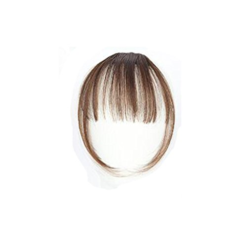 ESAILQ Hübsche Mädchen Clip On Clip In Front Hair Bang Fransen Haar Verlängerung Stück Thin Mini Luft Liu Hai Perücke (D)