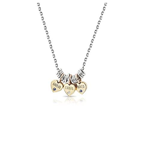 My charm Collar de plata personalizable código ag5pe63
