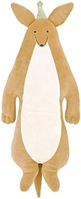 りぶはあと 抱き枕 ルーミーズパーティー 遠くを見つめるカンガルー Lサイズ (全長約77cm) ふわふわ もちもち 58931-13 2セット