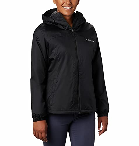 Columbia Women's Switchback Faux Sherpa Lined Jacket, Black, Medium