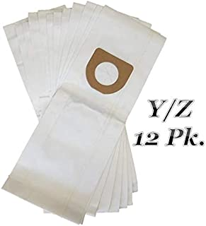 Ultra Fresh 12 Pk Hoover Type Y and Z Vacuum Cleaner Bags. Designed To Fit Hoover Windtunnel, Tempo, Power Drive, Dimension, Dirt Finder, Autodrive, Select Turbopower, Powermax, Breathe Easy Caddy Vac