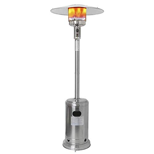 TcooLPE Calentador de Patio de Gas al Aire Libre - Estufa de calefacción Exterior Comercial con protección y Cubierta de Revestimiento, 48000 BTU (Color : A)