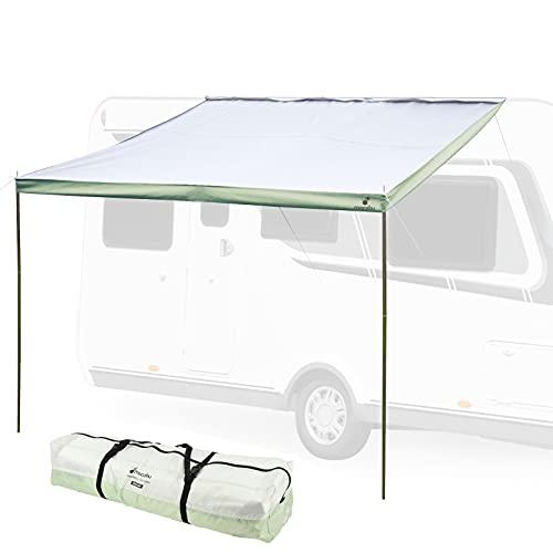 """Hypercamp Sonnensegel Sunny 260\"""" für Kederleisten 7 mm 260 x 240 cm inkl Stangen, Heringe, Leinen für Wohnwagen, Wohnmobile und Bus"""