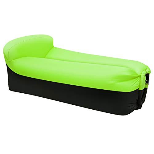 XUE-SHELF Aufblasbares Sofa im Freien beweglichen Wasser-Beweis-Anti-Air Undichte Lounger Air Sofa Hängesessel für einen Pool, Strand, Partys Reisen, Camping, Wandern, Picknick,Grün