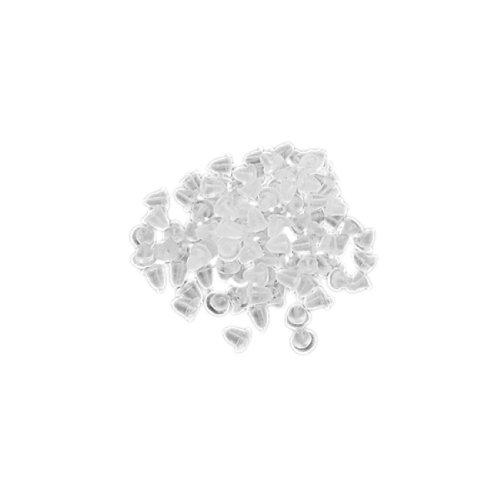 Chiusure Trasparenti Morbide di Plastica per Orecchini (300 Pezzi)