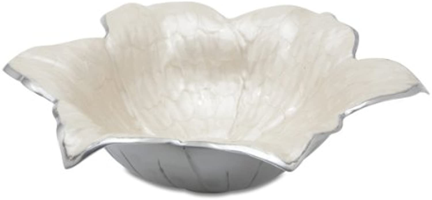 Julia Knight Lily Bowl, 15-Inch, Snow, White
