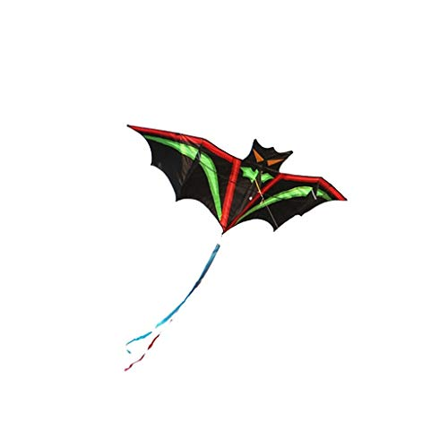 suoryisrty Cartoon Bat Kites Resin Rod Flying Sports Beach Ripstop Kitesurf Children Gift Family Outdoor Sport Activity