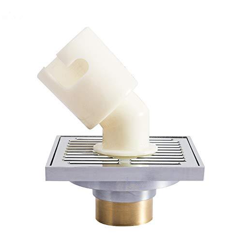 YBWEN Dusche Bodenablauf Platz Badezimmer Filter Dusche abnehmbare Abdeckung Messing for Badezimmer Duschraum Toilette Wäsche Feste Duschköpfe (Farbe : Silver, Size : 10 x 10 x 5 cm)