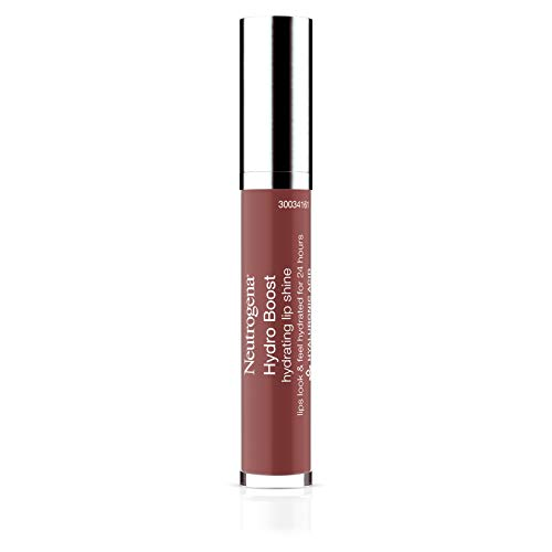 Neutrogena Hydro Boost Moisturizing Lip Gloss, Hydrating Non-Stick and Non-Drying Luminous Tinted Lip Shine with Hyaluronic Acid to Soften and Condition Lips, 90 Pink Mocha Color, 0.10 oz