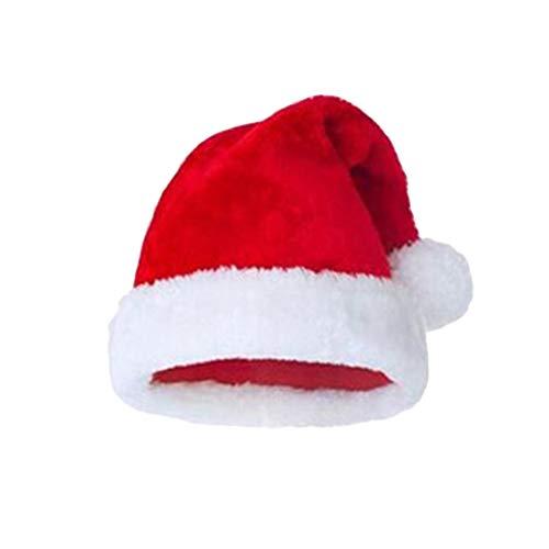 PRETYZOOM Babbo Natale Peluche Babbo Cappello Rosso Babbo Natale Cappello Festa per Feste per Adulti