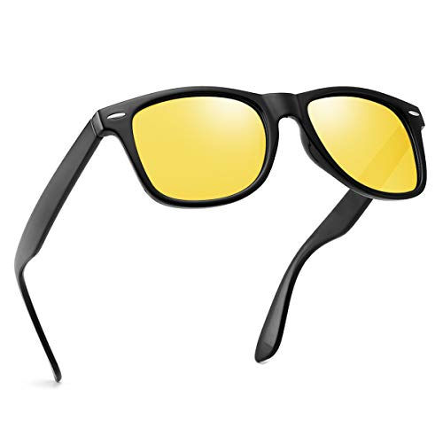 Polarized Night Vision Sunglasses For Men Women Retro TR90 Frame Square Shades Vintage BRAND DESIGNER Classic Sun Glasses