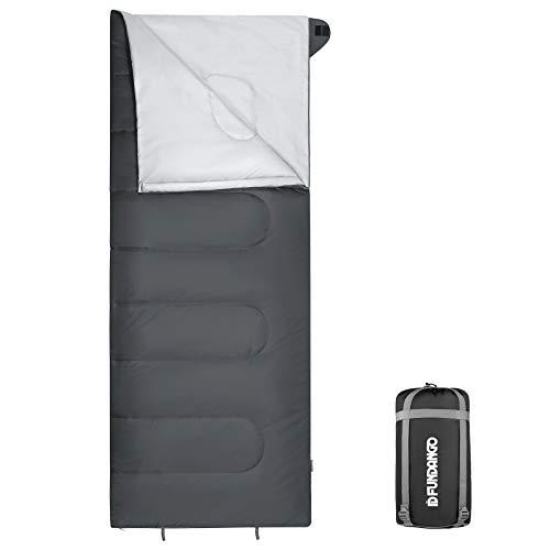 Fandango Saco de Dormir cálido de 3 a 4 Estaciones, Rectangular, Compacto, Ligero, Resistente al Agua, para Adultos y niños, Equipo de Camping, Senderismo, Viajes y Actividades al Aire Libre