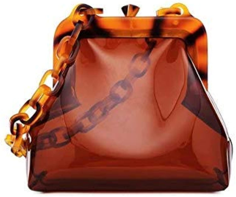 8f46badb4 Bloomerang Japanese Design Transparent Bag Lady Vacation Acrylic Strap  Chain Shoulder Bag Cute Female Small Tote