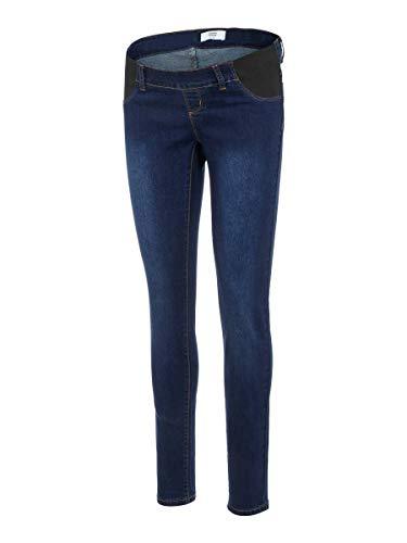 Mamalicious NOS Mllola Slim Jeans W Elast Noos Pantalones premamá, Azul (Dark Blue Denim Dark Blue Denim), 38 (Talla del Fabricante: 28) para Mujer
