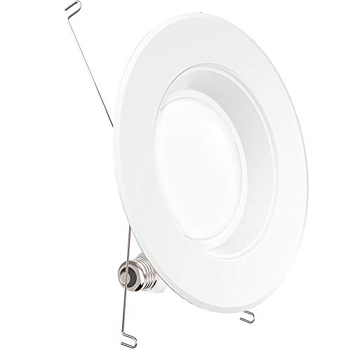 Sunco Lighting 5/6 Inch LED Recessed Downlight, Baffle Trim, Dimmable, 13W=75W, 3000K Warm White, 1050 LM, Damp Rated, Simple Retrofit Installation - UL + Energy Star