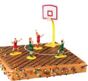 Artipas Basketball-Figuren für Kuchen-Topping - Dekoration für Sport-Party-Kuchen